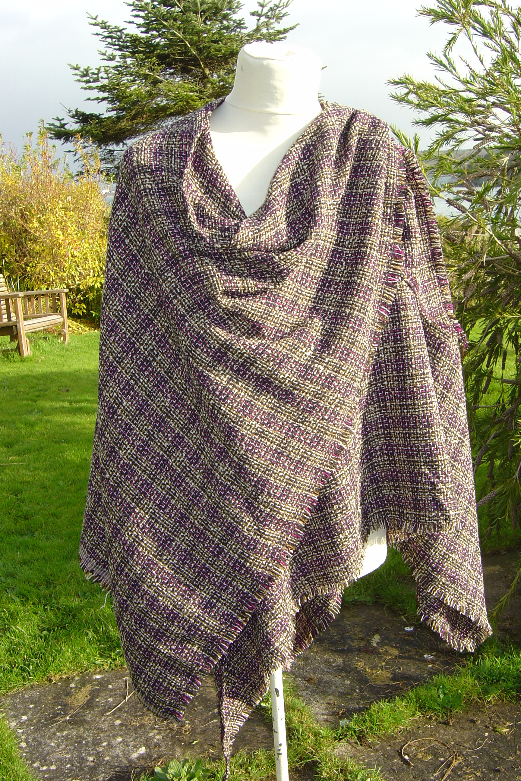 9baaf698c4 ... Celtic Shawl - Item No: 108 handcrafted in Ireland by Siobhan Wear