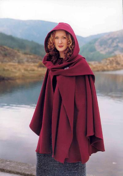 e955d0c028 Cape & Scarf Hoodie- Item No: 208 handcrafted in Ireland by Siobhan Wear ...